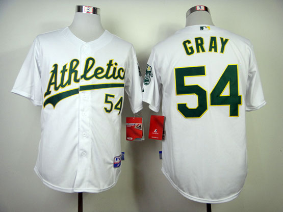 Mens Mlb Oakland Athletics #54 Gray White Jersey