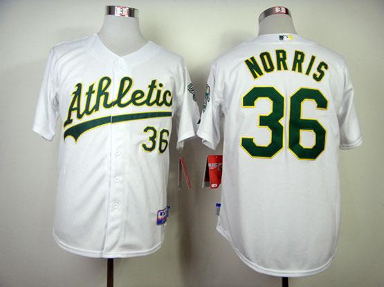 Mens Mlb Oakland Athletics #36 Norris White Jersey