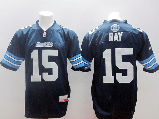 Mens Cfl Toronto Argonauts #15 Ray Dark Blue Jersey