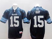 Mens Cfl Toronto Argonauts #15 Ray Dark Blue Jersey