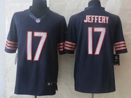 mens nfl Chicago Bears #17 Alshon Jeffery blue limited jersey