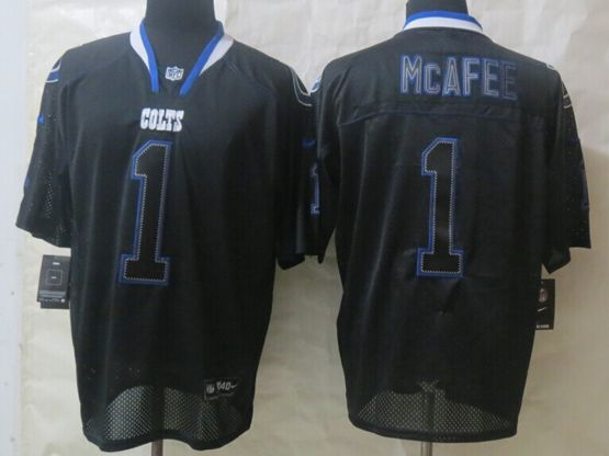 Mens Nfl Indianapolis Colts #1 Mcafee (newlights Out) Black Elite Jersey