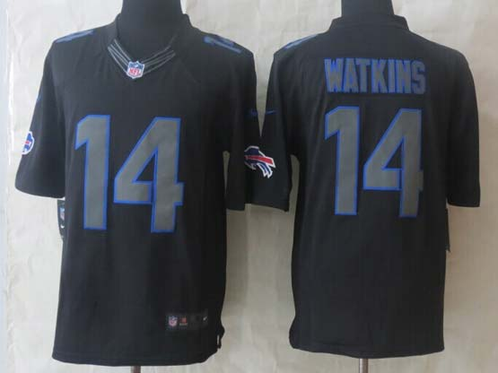mens nfl Buffalo Bills #14 Sammy Watkins impact limited black jersey