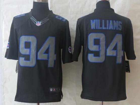 Mens Nfl Buffalo Bills #94 Williams New Impact Limited Black Jersey