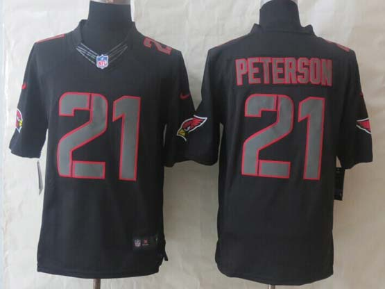 Mens Nfl Arizona Cardinals #21 Patrick Peterson New Impact Limited Black Jersey