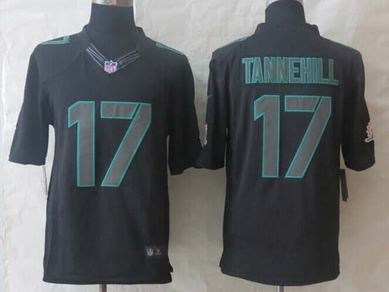 Mens Nfl Miami Dolphins #17 Tannehill Impact Limited Black Jersey