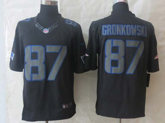 Mens Nfl New England Patriots #87 Gronkowski Impact Limited Black Jersey