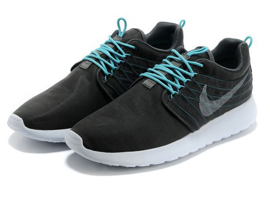 Women    2014 Roshe Run Dyn Fw Qs Running Shoes Color Black&light Blue&white 580579