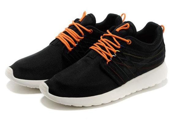Women    2014 Roshe Run Dyn Fw Qs Running Shoes Color Black&orange&white 580579
