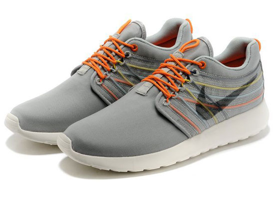 Women    2014 Roshe Run Dyn Fw Qs Running Shoes Color Gray&orange&white 580579
