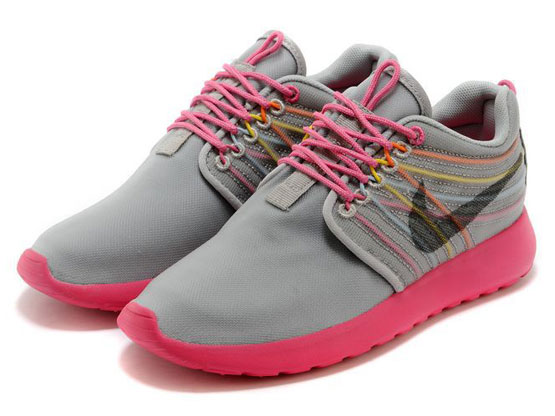 Women    2014 Roshe Run Dyn Fw Qs Running Shoes Color Gray&pink&pink 580579