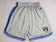 Nba Brooklyn Nets Light Gray Short (new Mesh Style)