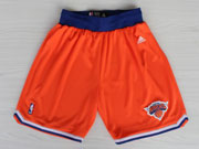 Nba New York Knick Orange Shorts (new Mesh Style)