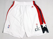 Nba Washington Wizards White Shorts (new Mesh Style)
