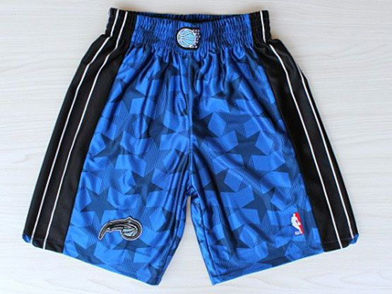 Nba Orlando Magic Blue Star Style Shorts (new Mesh Style)