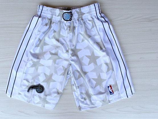 Nba Orlando Magic White Star Style Shorts (new Mesh Style)