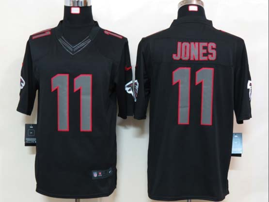 Mens Nfl Atlanta Falcons #11 Jones Black New Impact Limited Jersey