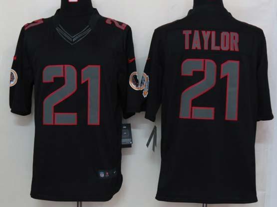 Mens Nfl Washington Redskins #21 Taylor Black New Impact Limited Jersey