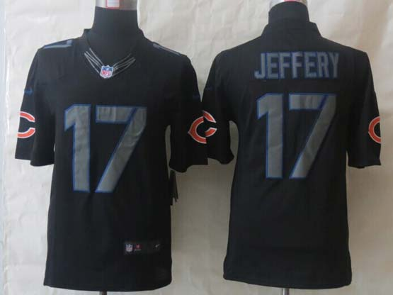 mens nfl Chicago Bears #17 Alshon Jeffery back new impact limited jersey