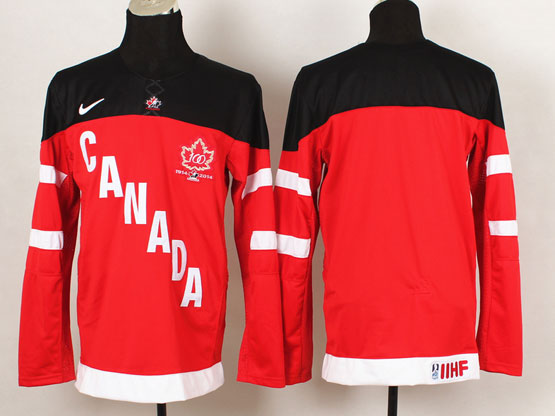 Mens Reebok Nhl Team Canada Blank 2014 100th Anniversary Red Jersey