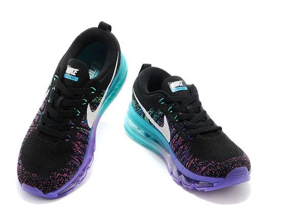 Air Max Flyknit Shoe Color Black Blue Purple