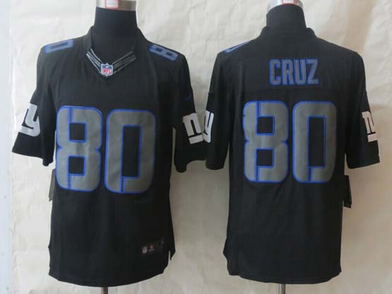 Mens Nfl New York Giants #80 Cruz Black New Impact Limited Jersey