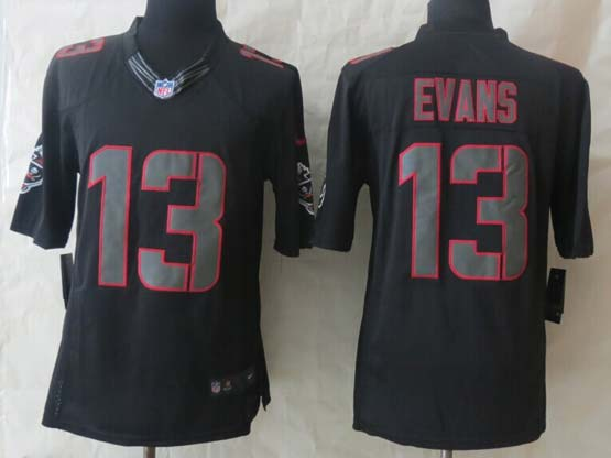 Mens Nfl Tampa Bay Buccaneers #13 Evans Black New Impact Limited Jersey