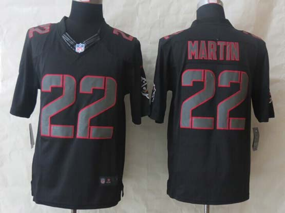 Mens Nfl Tampa Bay Buccaneers #22 Martin Black (2014 New) Impact Limited Jersey