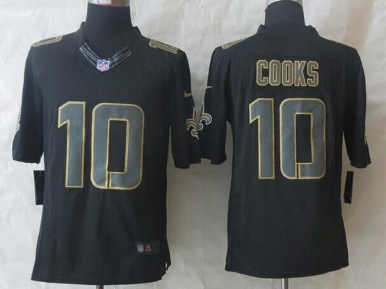 mens nfl New Orleans Saints #10 Brandin Cooks black new impact limited jersey