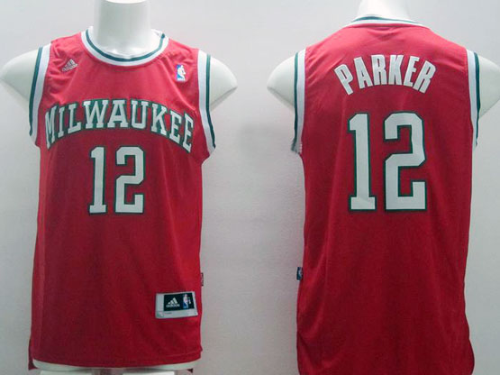 Mens Nba Milwaukee Bucks #12 Parker Red Jersey