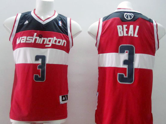 Mens Nba Washington Wizards #3 Beal Red Revolution 30 Jersey