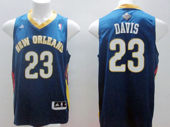 Mens Nba New Orleans #23 Davis Blue Jersey