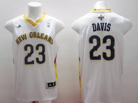 Mens Nba New Orleans #23 Davis White Jersey