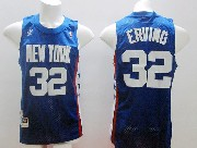 Mens Nba New York Knicks #32 Erving Blue Hardwood Classic Jersey