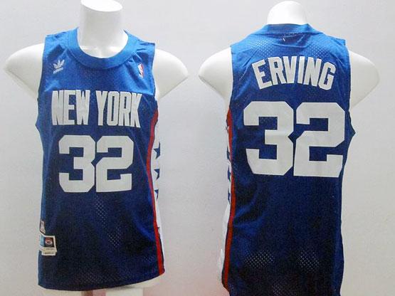 Mens Nba New York Knicks #32 Erving Blue Hardwood Classic Jersey