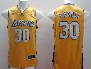 Mens Nba Los Angeles Lakers #30 Randle Gold Revolution 30 Jersey (p)