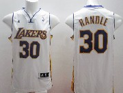 Mens Nba Los Angeles Lakers #30 Randle White Revolution 30 Jersey (p)