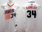 Mens Nba Phoenix Suns #34 Barkley White (2014 New Black Number) Jersey