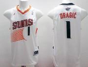 Mens Nba Phoenix Suns #1 Dragic White (2014 New Black Number) Jersey