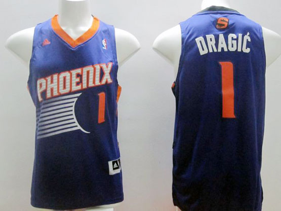Mens Nba Phoenix Suns #1 Dragic Purple (2014 New Orange Number) Jersey