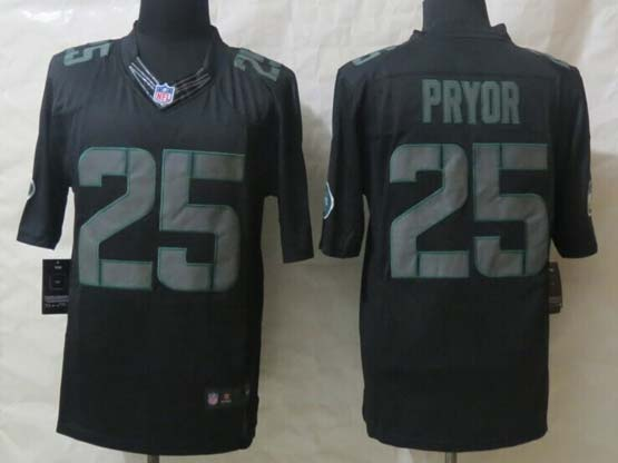 Mens Nfl New York Jets #25 Pryor Black New Impact Limited Jersey