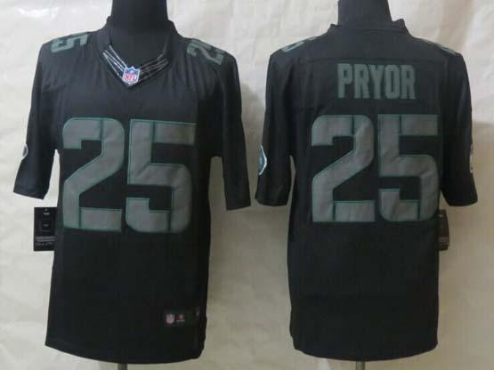 Mens Nfl New York Jets #25 Pryor Black New Impact Limited Jersey