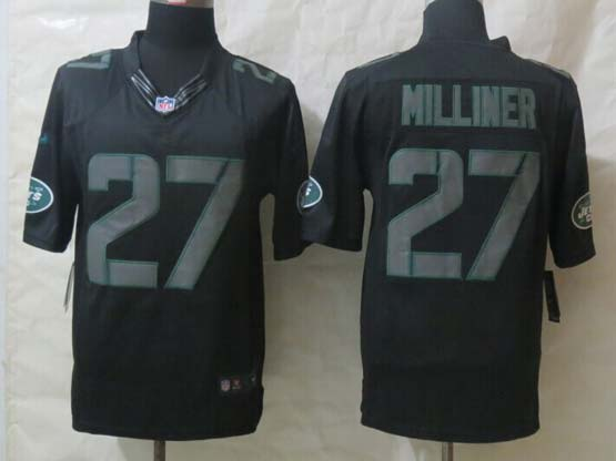 Mens Nfl New York Jets #27 Milliner Black New Impact Limited Jersey