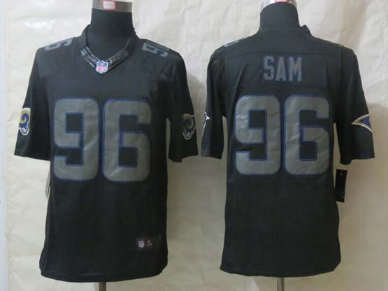 Mens Nfl St. Louis Rams #96 Sam Black New Impact Limited Jersey