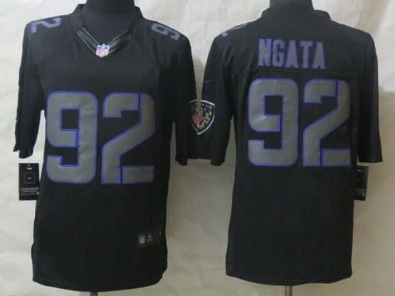 Mens Nfl Baltimore Ravens #92 Ngata Black New Impact Limited Jersey