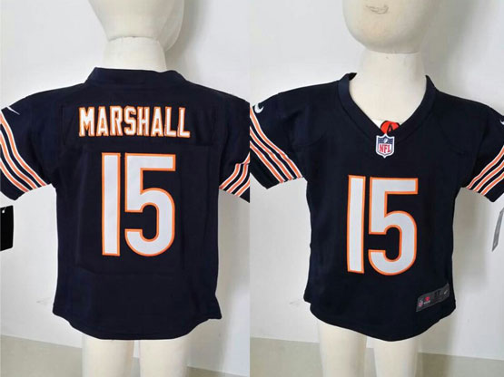 Kids Nfl Chicago Bears #15 Marshal Blue Jersey
