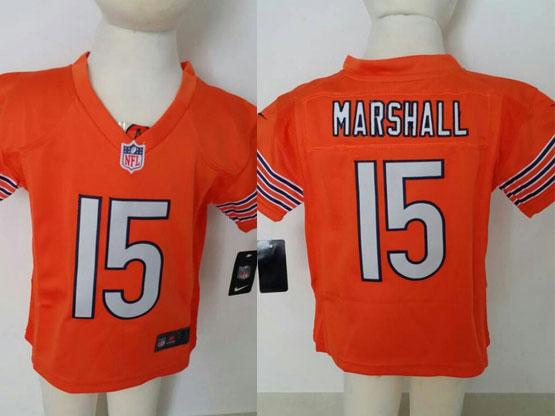 Kids Nfl Chicago Bears #15 Marshal Orange Jersey