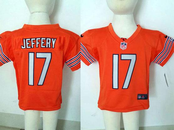kids nfl Chicago Bears #17 Alshon Jeffery orange jersey