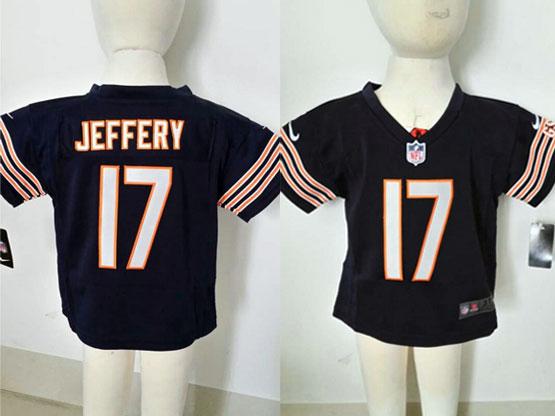 kids nfl Chicago Bears #17 Alshon Jeffery blue jersey