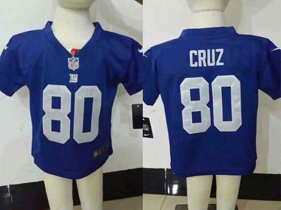 kids nfl New York Giants #80 Victor Cruz blue jersey